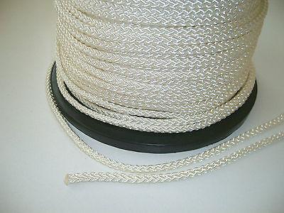 16 m Ersatz-Hissseil (Fahnenseil) Polyesterkordel 5 mm, weiß, Flaggenleine