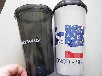2 Boeing Drinking Cups--Black AH6i Little Bird & Veterans Cold/Hot Cup Pride Birds Hot Cold Cups