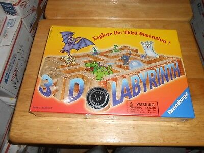 3D LABYRINTH Game Explore the 3rd Dimension...Maze to Treasure 2002 Ravensburger, used for sale  New York