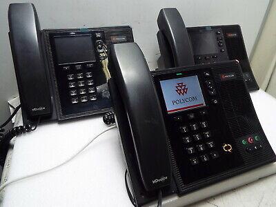 Lot Of 3 Polycom Cx600 Voip Poe Ip Phone 2201-15942-001 For Microsoft Lync