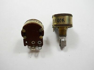 Potentiometers 100k Ohm Wswitch Solder Lug Mini Rotarynosqty 5 Eac3