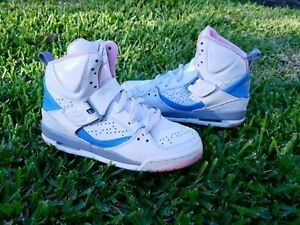 quality design 75899 5b4c2 Nike Air Jordan Flight 45 High (Kids) White Pink Blue Size 5 Youth