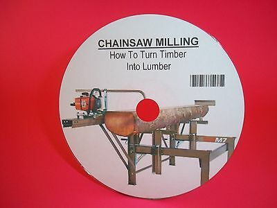 Chainsaw Milling Manual On A Cd - Turning Trees To Timber -