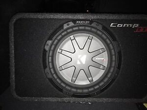 "Alpine Vpower Amp & 10"" Kicker Comp Subwoofer For Sale"
