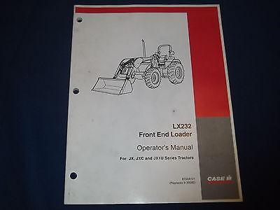 Case Lx232 Front End Loader Operation Maintenance Book Manual