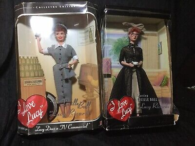 I LOVE LUCY BARBIE LOT (2) Lucy Does A TV Commercial/LA At Last~NIB!