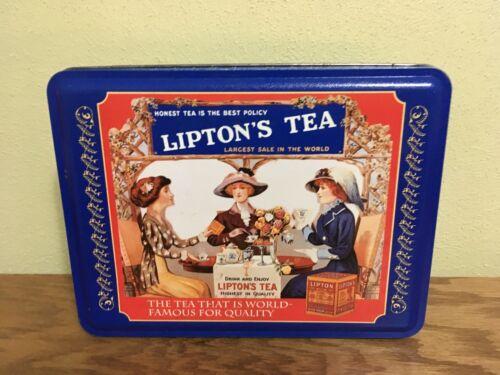 Vintage Lipton Nostalgic Metal Tea Tin Can Collection Series #401 8