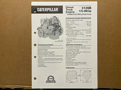 Caterpillar 3126b Diesel Truck Engine Brochurecatalog 1998