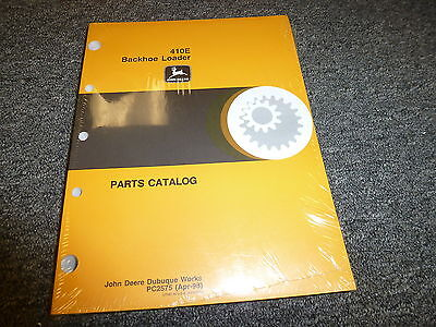 John Deere Model 410e Backhoe Loader Parts Catalog Manual Book Apr 98 Pc2575