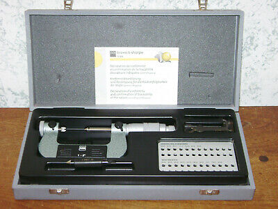 Tesa 1-2 Inch Thread Pitch Micrometer W Case - Anvils Thread Standard