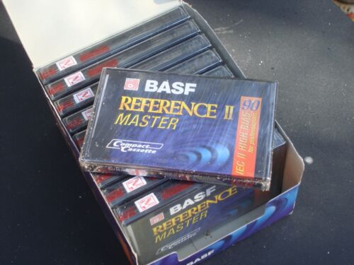 10 Master BASF Reference II, 90 Min High-Bias (type II) Blank Cassette Tapes