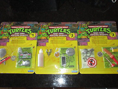 TMNT 1988 Gags Jokes and Crazy Weapons MOC FULL SET Teenage Mutant Ninja Turtles - Jokes And Gags Toys