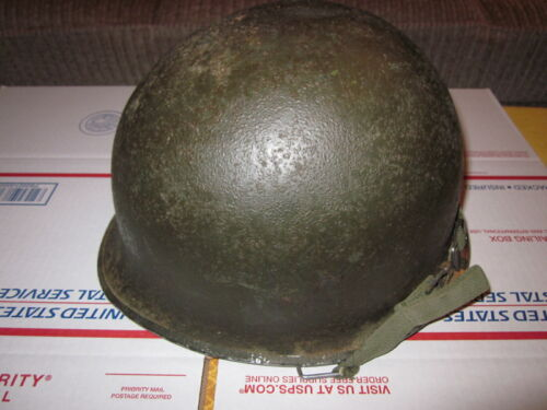 Original vintage WWII US Army M1 front seam helmet w/ liner by Westinghouse !!!