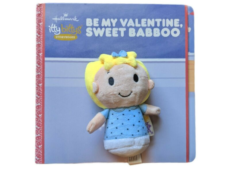 Hallmark Itty Bittys Peanuts Sally Plush BE MY VALENTINE SWEET BABBOO Storybook