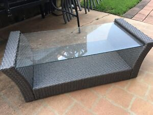 Outdoor lounge suite and coffee table