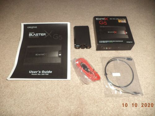 Creative Sound BlasterX G5 7.1 External Card 70SB170000000 WORKING, USED