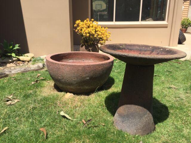 Matching Terra Cotta Bird Bath And 700mm Water Feature Pots Garden Beds Gumtree Australia Surf Coast Bellbrae 1260585352