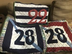 POTTERY BARN BOYS quilt and pillow covers