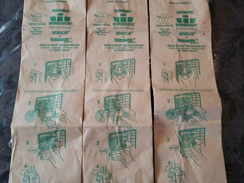 3 Genuine Windsor Triple-Check Microfilter Bags (5300) Sensor Versamatic Plus