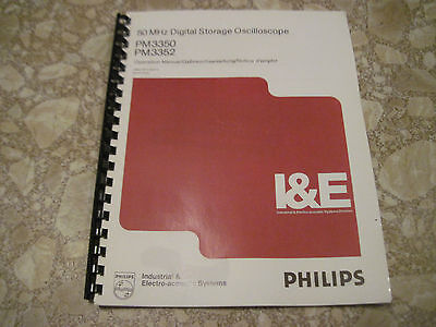 Philips Pm3350 Pm3352 Oscilloscope Operator Manual In English - Hardcopy -