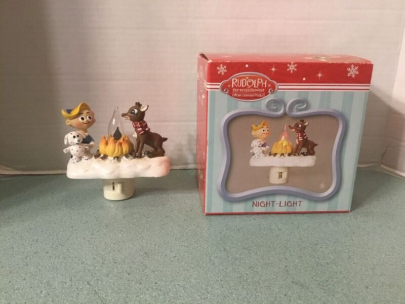 Rudolph The Red Nosed Reindeer & Hermey The Elf Flickering Christmas Night Light