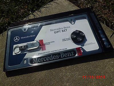 - Mercedes-Benz ((GIFT SET)) license frame stem cap key chain W211 W222 W221 W220