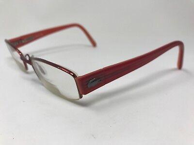 LACOSTE Womens Eyeglasses Halfrim LA12230 48-19-130 Red Polish (Lacoste Womens Glasses)