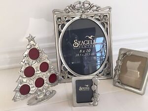 Collection of Seagull Pewter Picture Frames