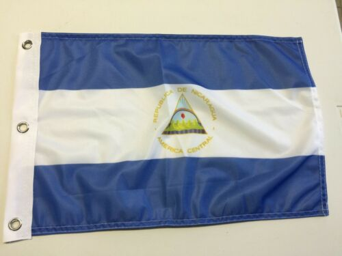 "12"" x 18"" NICARAGUA FLAG  12x18 CENTRAL AMERICA FLAGS17"