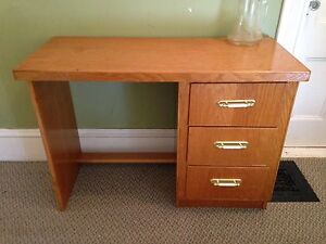 """Well Made Hand Crafted Oak Desk, 42.5"""" x 18.5"""""""