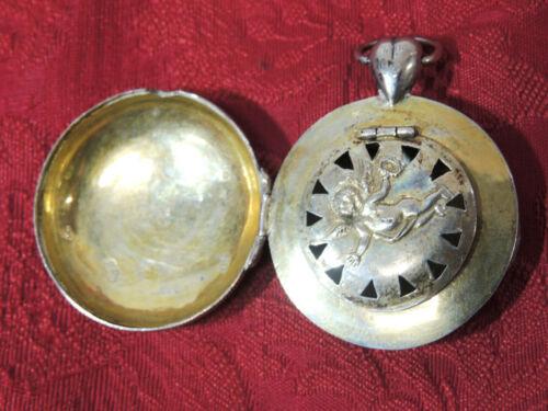 Antique 1800s Austrian Victorian VINAIGRETTE Pendant CHERUB Pocket Watch-Form