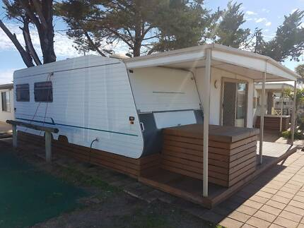 1998 empire 23ft caravan with hard annex in picturest moonta bay