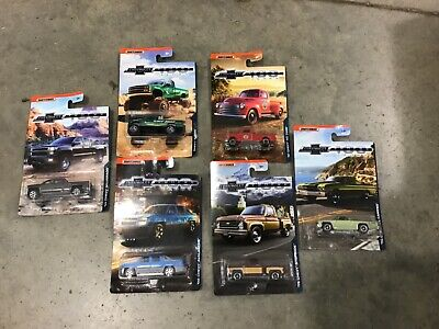 Matchbox complete set of 6 Chevrolet trucks 100 Years, FREE shipping