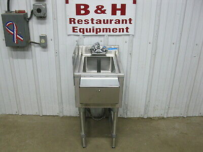 Bk Resources 14 X 18 Stainless Steel Underbar Dump Sink Bkubs-1014hs-18s
