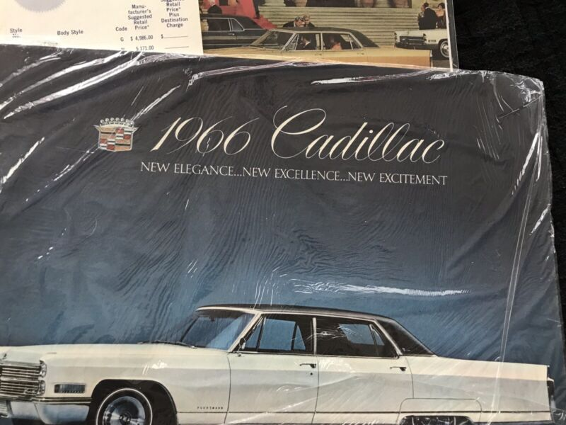 1966 Cadillac Body Manual And Sales Brochures