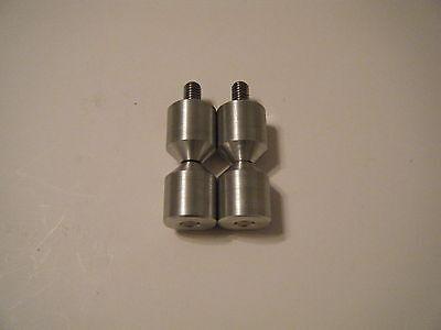Davis 1-two Hole Pin-6061 Aluminium- 38-16 Stainless Steel Threaded Rod