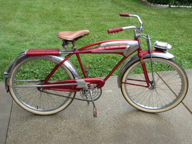 Rare Vintage 1956 WESTERN FLYER X-53 Super Tank Bicycle All Original Attic Find!