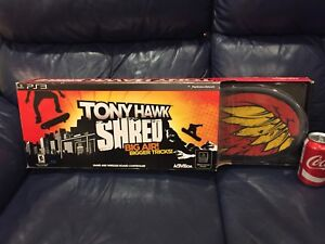 Tony Hawk Shred Video Game and Wireless Board for PS3 New in Box