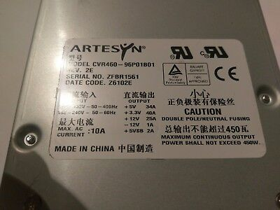 Tektronix Artesyn Cvr460 Power Supply 119-6986- Dpo7000 Awg7000 Rsa5100 Rsa6100