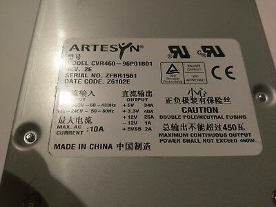 Tektronix Artesyn Cvr460 Power Supply 119-6986- Dpo7000 Dpo7000c Awg7000