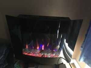Electronic space geater/fireplace