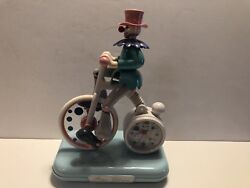 Peter Clown Clock Musical Alarm Kirch Japan Quartz Vintage