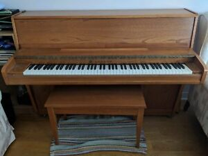 Lesage upright piano with bench
