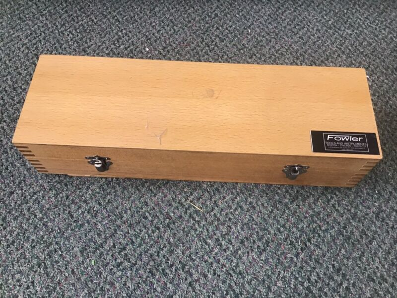 """Fowler 52-620-717 12"""" Workshop Transfer Stand Used Wooden Box Stainless Steel"""