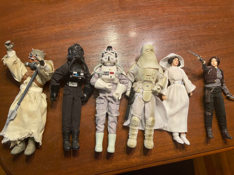 Star Wars 1/6 At At Pilot Snowtrooper Tusken Jyn Erso Princess Leia Tie Fighter