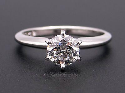 Platinum  81Ct Round Diamond G Vs2 Solitaire Engagement Ring Conflict Free Gia