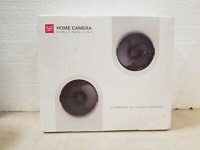 Yi - Home Camera - Family Pack 2 In 1 - 720p HD / Infrared Night Vision - Sealed
