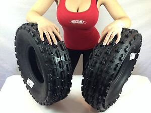 Front-Tire-Set-2x-4ply-22X7-10-Quadboss-Sport-ATV-Tires-22-7-10-22x7x10-21