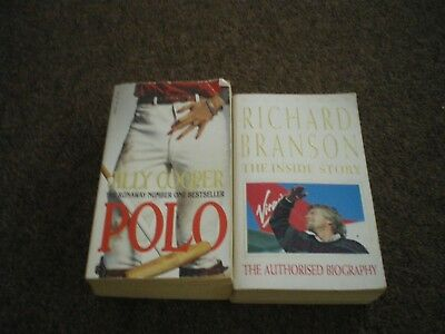 Paperback books x 2. Polo by Jilly Cooper, Richard Branson The Inside Story
