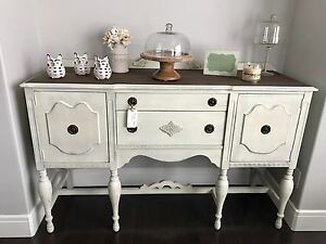 Antique refinished sideboard buffet